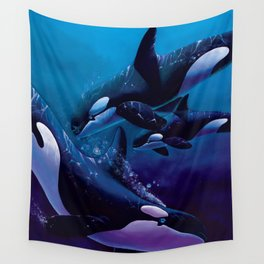 A Family Affair - Orcas Wall Tapestry