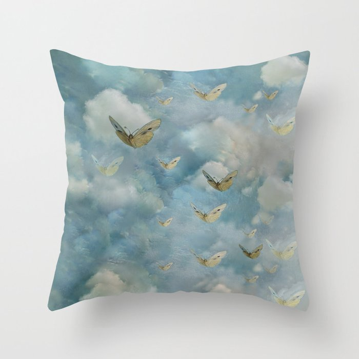 """Heaven & butterflies"" Throw Pillow"