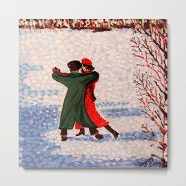 Snow Tango Metal Print