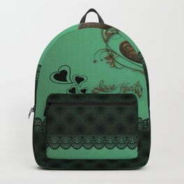 Elegant hearts with butterflies Backpack