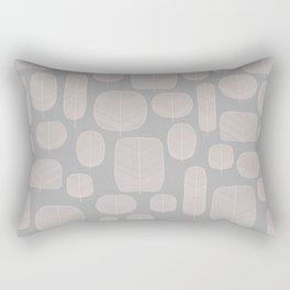 Fall leaves in Grey Rectangular Pillow