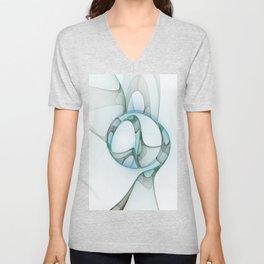 Minimalist Abstract, Fractals Art Unisex V-Neck