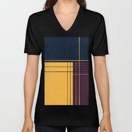 Abstract graphic I Dark blue Purple Yellow Unisex V-Neck