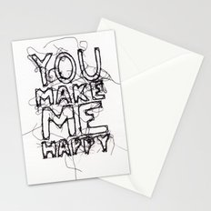 You Make Me Happy Stationery Cards