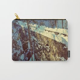 Vaughan's Woods Bridge in Winter Carry-All Pouch