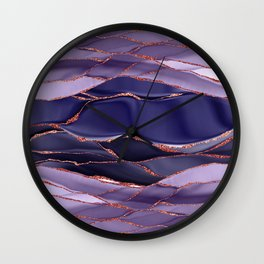 Violet Marble Glamour Landscapes Wall Clock