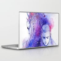 thranduil Laptop & iPad Skins featuring Thranduil and Legolas by Kinko-White