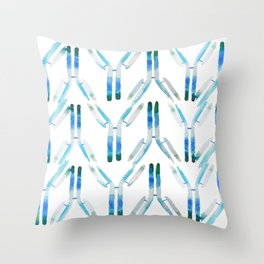 IgG Antibody, Science Art Throw Pillow