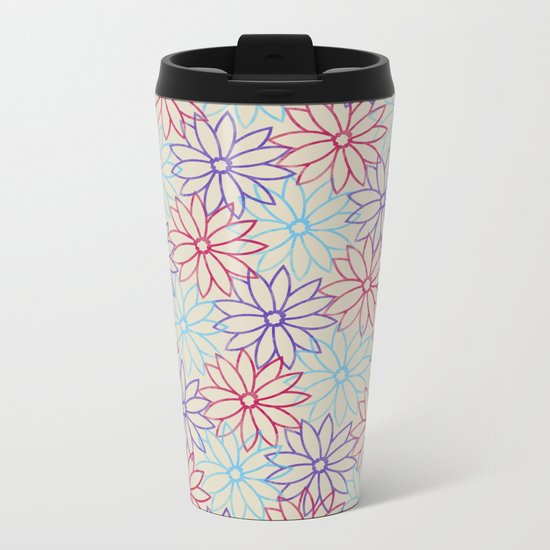 Floral pattern Metal Travel Mug
