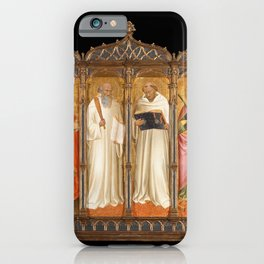 Agnolo Gaddi - Madonna and Child with John the Baptist and other Saints (1388) iPhone Case