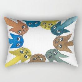 Rouen Whimsical Cats Rectangular Pillow