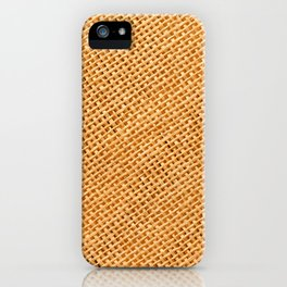 Bright hessian texture abstract iPhone Case
