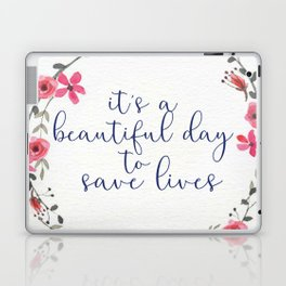 It's a Beautiful Day Floral Wreath Laptop & iPad Skin