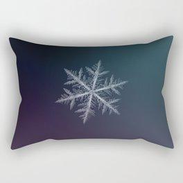 Real snowflake macro photo - Neon Rectangular Pillow