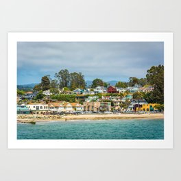 The Beach in Capitola Art Print