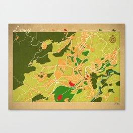 Lamego Map (version2) Canvas Print