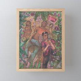 gay and tropical Framed Mini Art Print