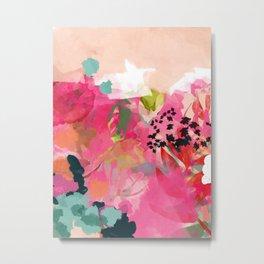 pink summer garden dream abstract Metal Print