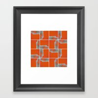 Wall Pattern Framed Art Print