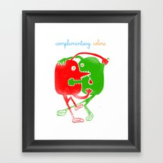 complementary colors fight Framed Art Print