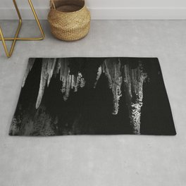 Caverns in Black and White Rug