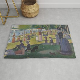 A Sunday Afternoon on the Island of La Grande Jatte (High Resolution) Rug