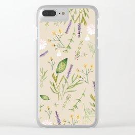 My herbarium II Clear iPhone Case
