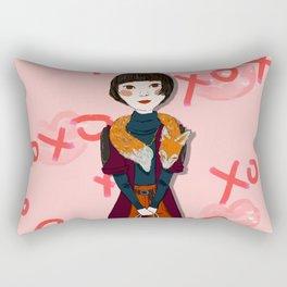 You are Beautiful: Miss Fox Rectangular Pillow