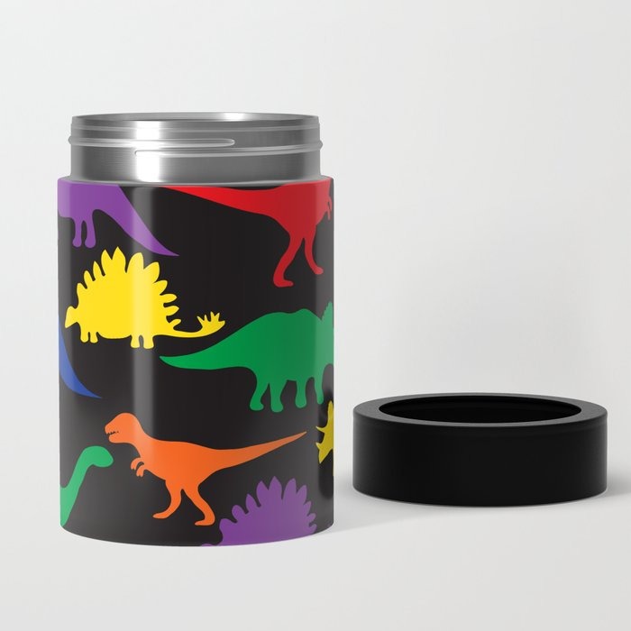 Dinosaurs - Black Can Cooler