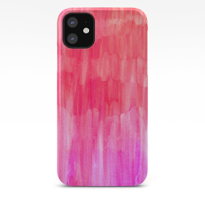 Hot Pink Melon Amp Magenta Watercolor Abstract Iphone Case