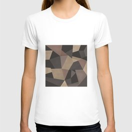 Brown pattern . Leather patches . T-shirt