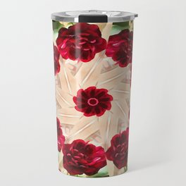 Old Red Rose Kaleidoscope 13 Travel Mug
