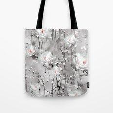White Snow Flowers Tote Bag