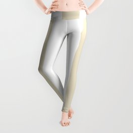 Pearl grey - solid color - white vertical lines pattern Leggings