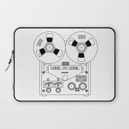 Reel To Reel Line Drawing Laptop Sleeve
