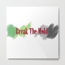 Break The Mold - Aro Pride Metal Print