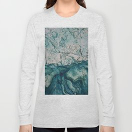Blue underwater stone Long Sleeve T-shirt