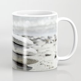 Balancing Stones On The Beach Coffee Mug