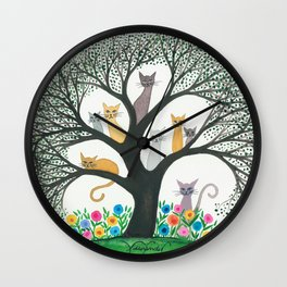Cimarron Whimsical Cats Wall Clock