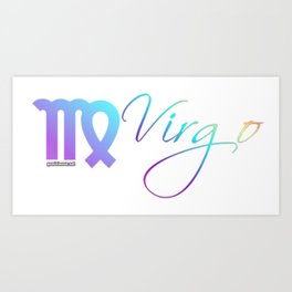 Virgo the Virgin Zodiac by Gemini Moon Art Print