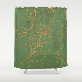 trace drawing 05 Shower Curtain