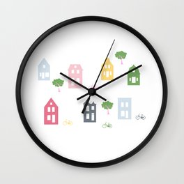 Lille Huset Urban Houses Wall Clock