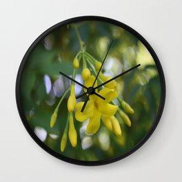 Close Up Of Carolina Jasmine Wall Clock