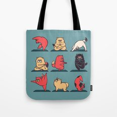 Cat Yoga Tote Bag