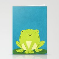 frog Stationery Cards featuring Frog by Claire Lordon