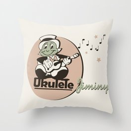 Ukelele Jiminy Throw Pillow