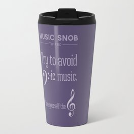 Bass-ic Music — Music Snob Tip #310 Travel Mug