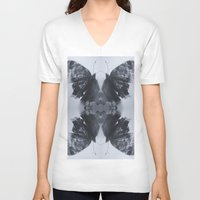 moth V-neck T-shirts featuring Moth  by Ali Prentice