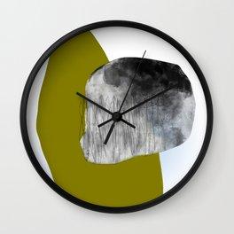 Moss and Bark 1 Mid-Century abstract Wall Clock