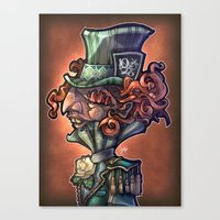 mad hatter Canvas Prints featuring Mad Hatter by Tim Shumate